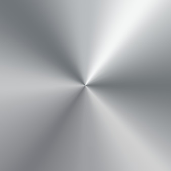 Gradiente cônico metálico de placa polida de prata. fundo de textura