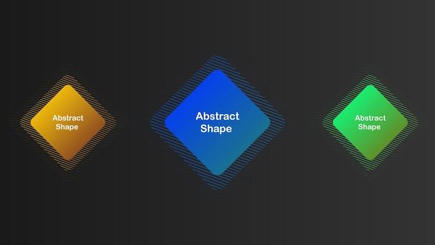 Gradiente conjunto criativo de elementos abstratos