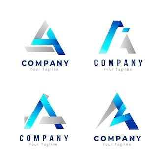 Gradiente criativo uma coleção de logotipo Vetor grátis