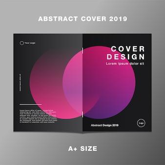 Gradiente de círculo cor-de-rosa de relatório de capa