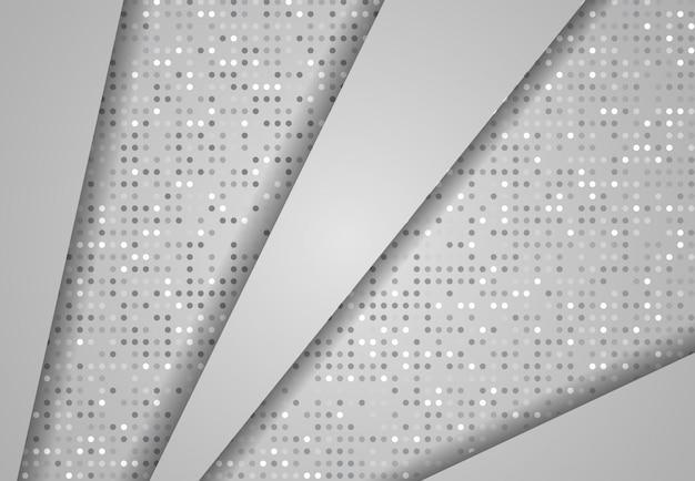 Gradiente de efeito abstrato, ponto de fundo cinza claro