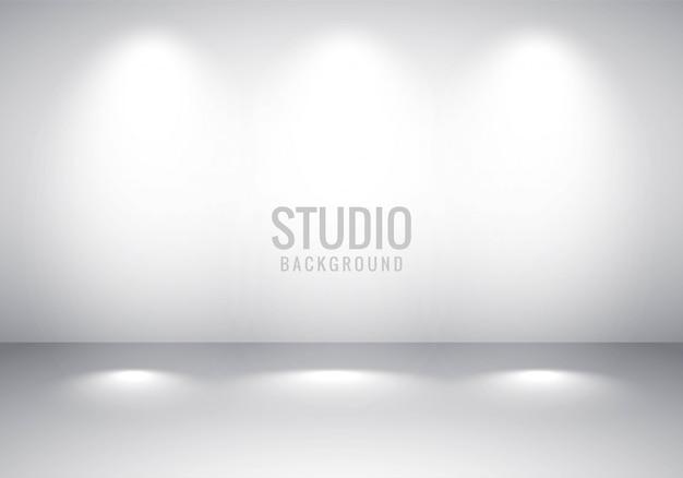 Gradiente de estúdio de quarto vazio cinza