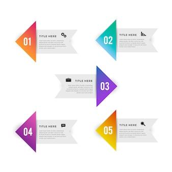 Gradiente de etapas de negócios infográfico
