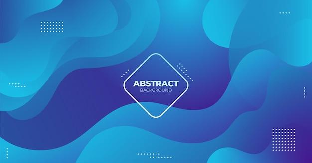 Gradiente de fluido líquido abstrato azul moderno
