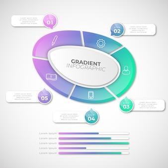Gradiente de forma abstrata infográfico