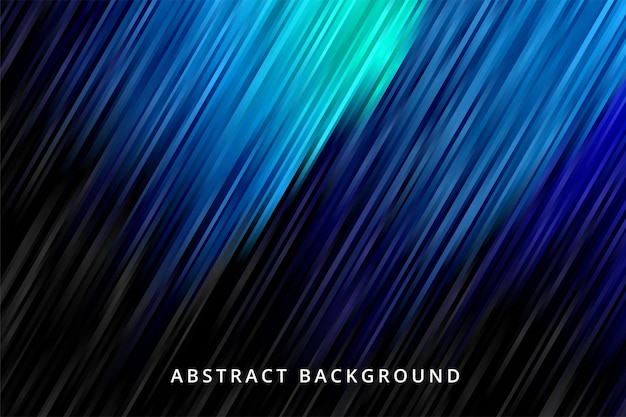 Gradiente de fundo abstrato. papel de parede de linha de listra preta azul