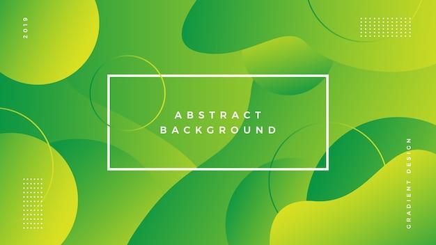 Gradiente de fundo abstrato verde vibrante