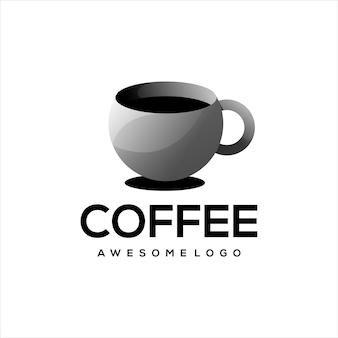 Gradiente de ilustração do logotipo do café