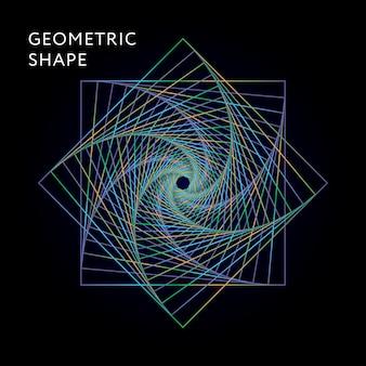 Gradiente de ilustração gráfica de forma geométrica
