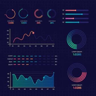 Gradiente de infográfico de elementos