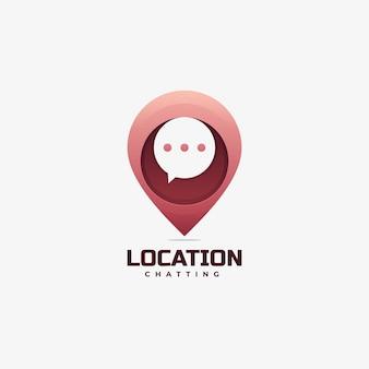Gradiente de localização do logotipo