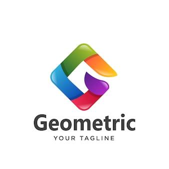 Gradiente de logotipo colorido letra g simples