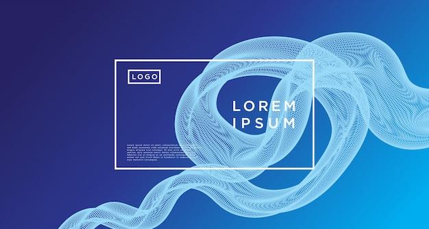 Gradiente de loop de linha azul