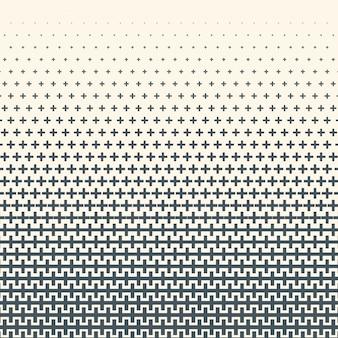 Gradiente de meio-tom monocromático com textura de cruzes. fundo ilustração