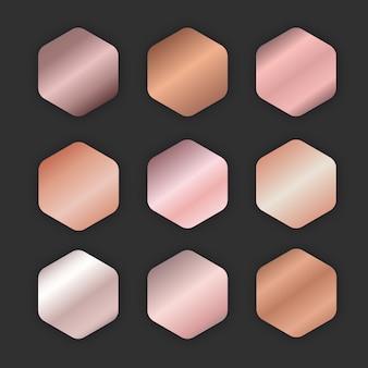 Gradiente de ouro rosa