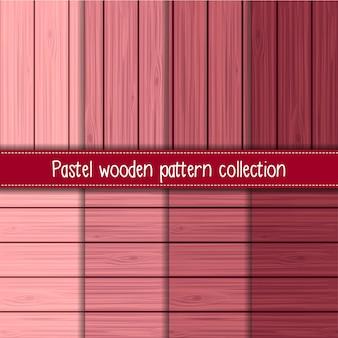 Gradiente de rosa de shabby chic de madeira sem costura padrões