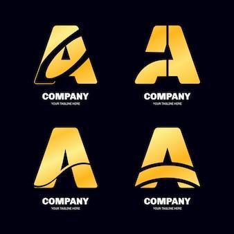 Gradiente de uma coleção de modelos de logotipo