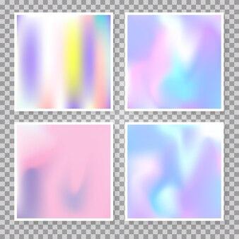 Gradiente definido com malha holográfica. o gradiente abstrato moderno definiu cenários. estilo retro dos anos 90, 80. modelo gráfico perolado para banner, folheto, capa, interface móvel, aplicativo da web.