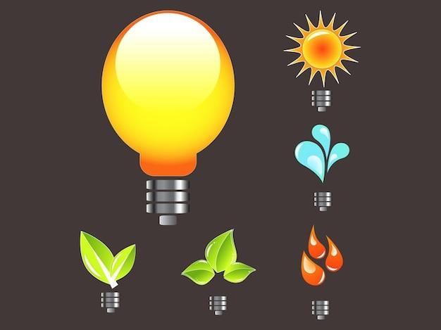 Gradiente deixa ecologia logos vector