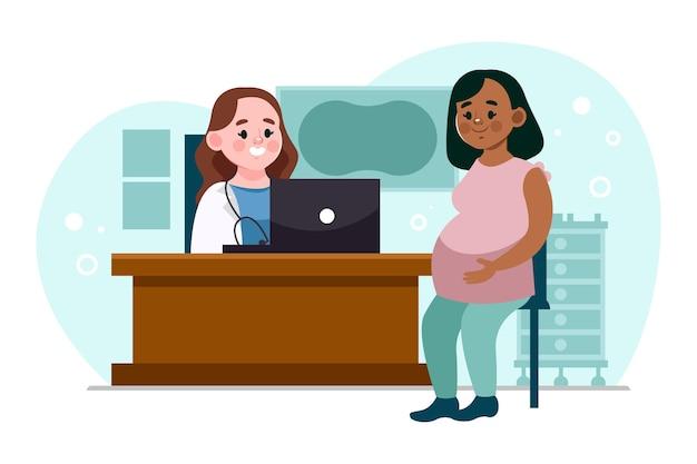 Gradiente dia internacional de la obstetricia y la embarazada ilustração