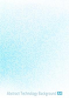 Gradiente digital de pixel abstrato círculo azul claro.