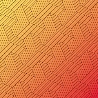 Gradiente do amarelo alaranjado e fundo do teste padrão, projeto da tampa.