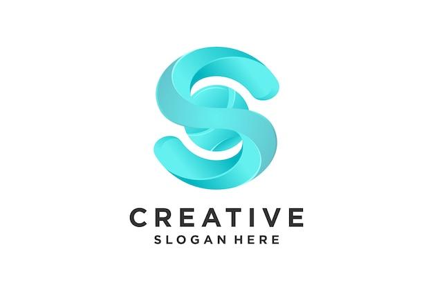 Gradiente do logotipo s com estilo swirly.