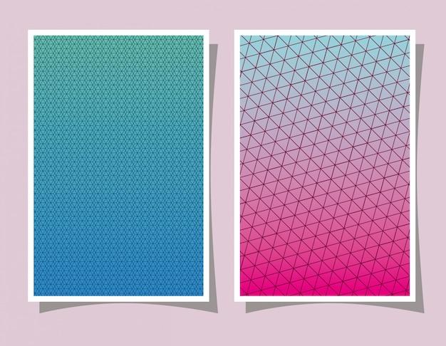 Gradiente e padrão rosa e azul