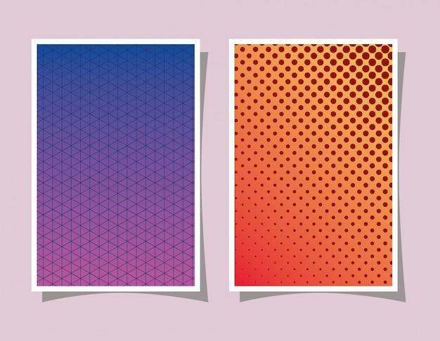 Gradiente e padrão roxo e laranja