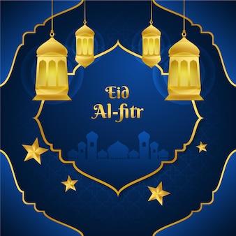 Gradiente eid al-fitr - ilustração de hari raya aidilfitri