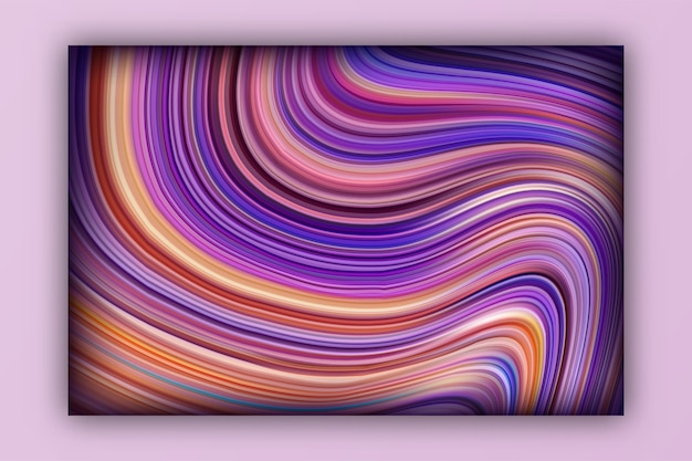 Gradiente fluido com sombras e efeitos de luz com modelo de design brilhante