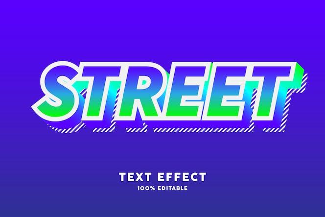 Gradiente fresco moderno com efeito de texto de linhas