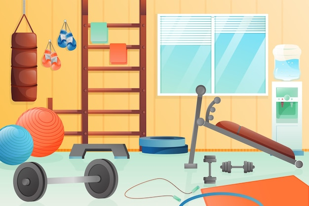 Gradiente home gym ilustrado