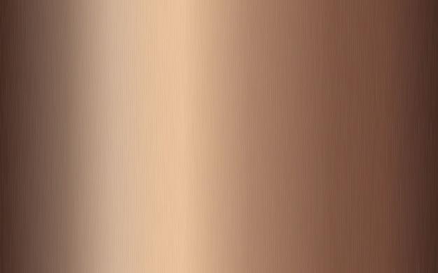 Gradiente metálico de bronze com riscos. efeito da textura da superfície da folha de bronze.