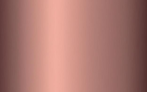 Gradiente metálico em ouro rosa com riscos. efeito de textura de superfície de folha de ouro rosa.