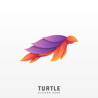 Gradiente moderno de logotipo de tartaruga