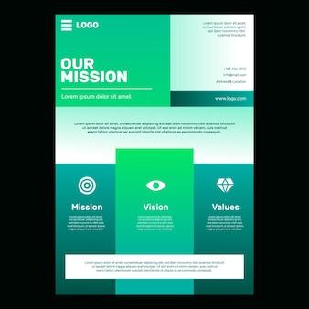 Gradiente nosso modelo de panfleto de missão