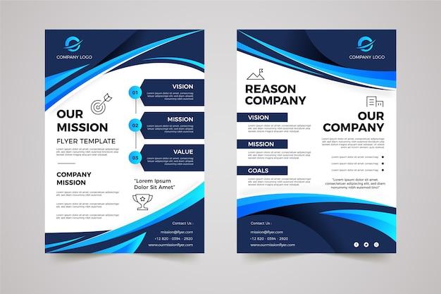 Gradiente nosso modelo de panfletos de missão