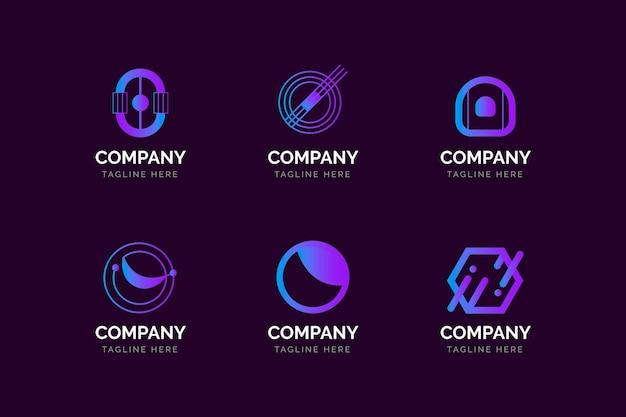 Gradiente o coleção de modelos de logotipo