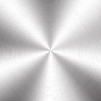 Gradiente radial metálico prateado com riscos. titã, aço, cromo, efeito de textura da superfície da folha de níquel.