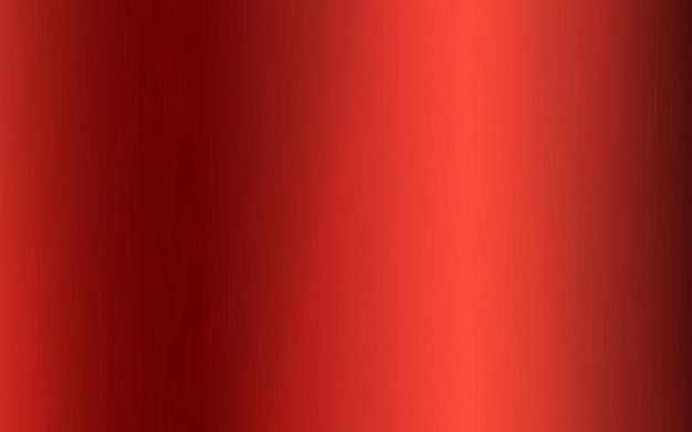 Gradiente radial metálico vermelho com arranhões. efeito da textura da superfície da folha vermelha. ilustração vetorial.