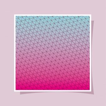 Gradiente rosa azul e fundo padrão, design da capa.