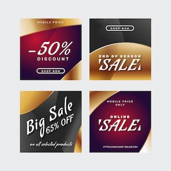 Gradiente venda post pack instagram