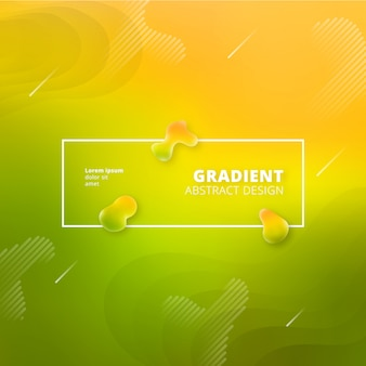 Gradiente verde e amarelo abstrato