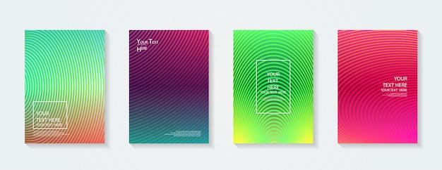Gradientes coloridos dinâmicos padrões geométricos futuros cores modelo de cartaz completo