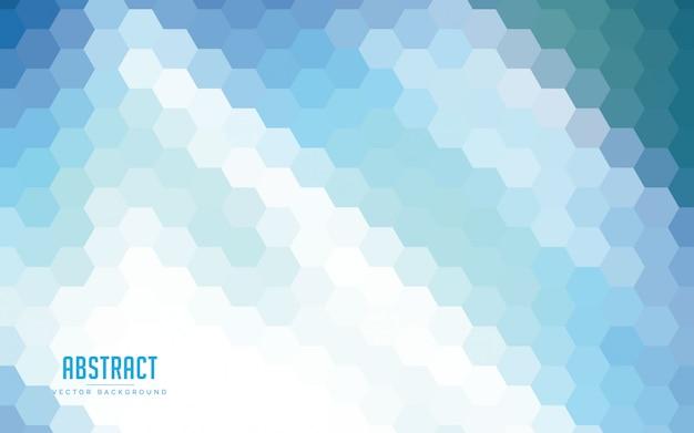 Gradientes de hexágono abstrato colorido