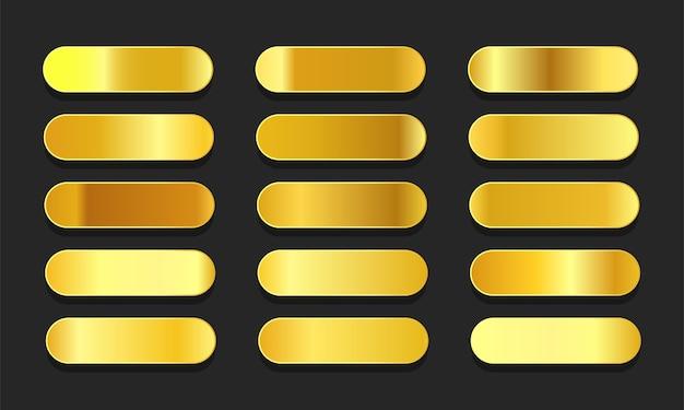 Gradientes de ouro amarelo metálico