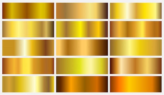 Gradientes de ouro premium