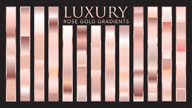 Gradientes de ouro rosa de luxo
