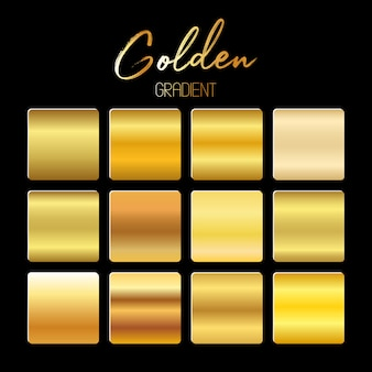 Gradientes dourados definem ilustração em fundo preto